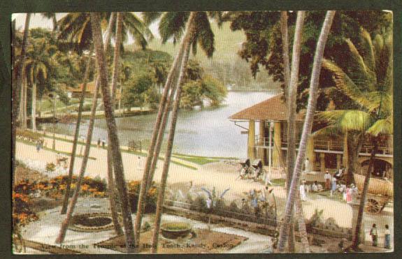 Holy Tooth Temple Kandy Ceylon postcard 1910s