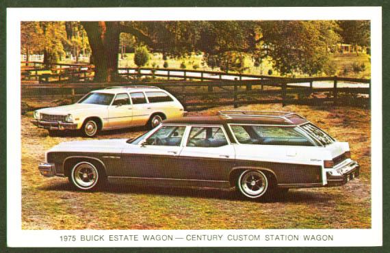 1975 Buick Estate Wagon Century postcard
