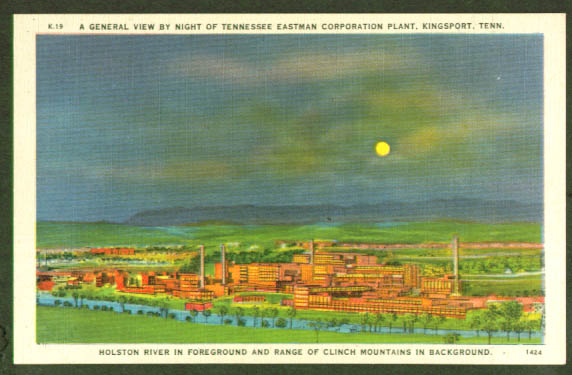 Tennessee Eastman Corp Kingsport TN postcard 1940s