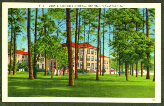 Archibald Hospital Thomasville GA postcard
