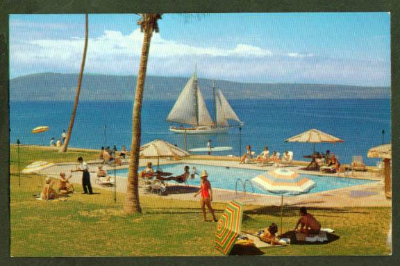 Royal Lahaina Beach Hotel Maui HI postcard