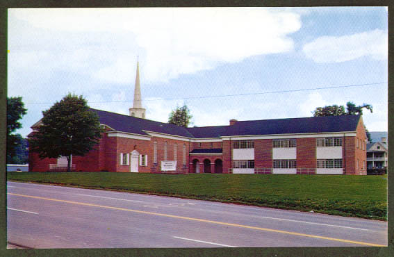 Methodist Church Brevard NC postcard 1950s