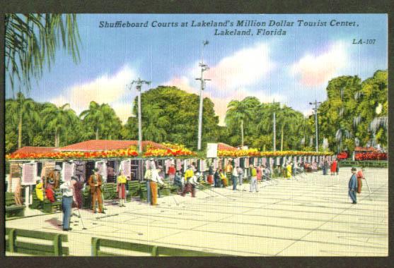 Shuffleboard Lakeland FL postcard 1940s