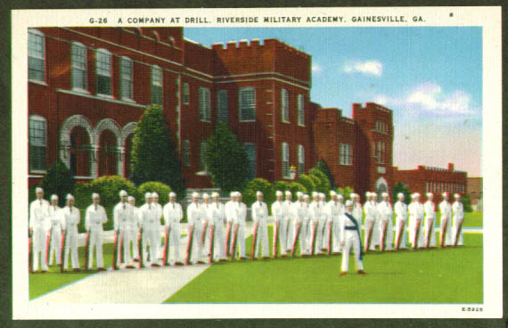 Riverside Military Academy Gainesville GA postcard