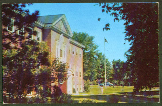 Library Hood College Frederick MD postcard