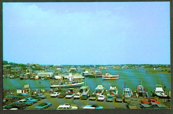 Sightseeing Boats Hyannis MA postcard 1960s