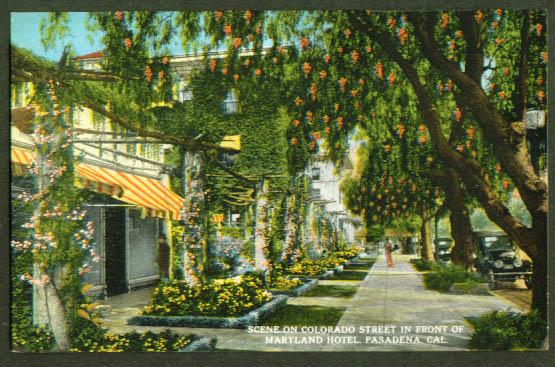 Maryland Hotel Pasadena CA postcard 1910s
