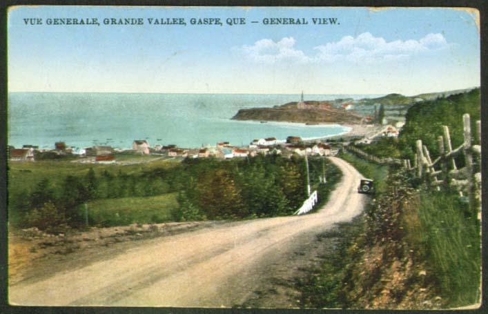 Grande Vallee Gaspe PQ postcard 1934