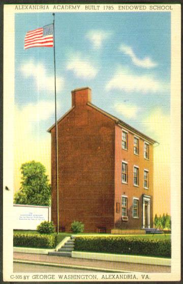 Academy Alexandria VA postcard 1940s