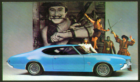 1060 Oldsmobile Cutlass S Coupe postcard