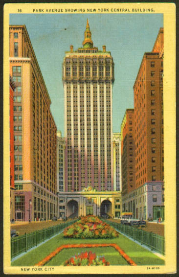 New York Central Building N Y City postcard 1949