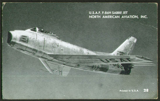 North American F-86H Sabre mutoscope card 50s