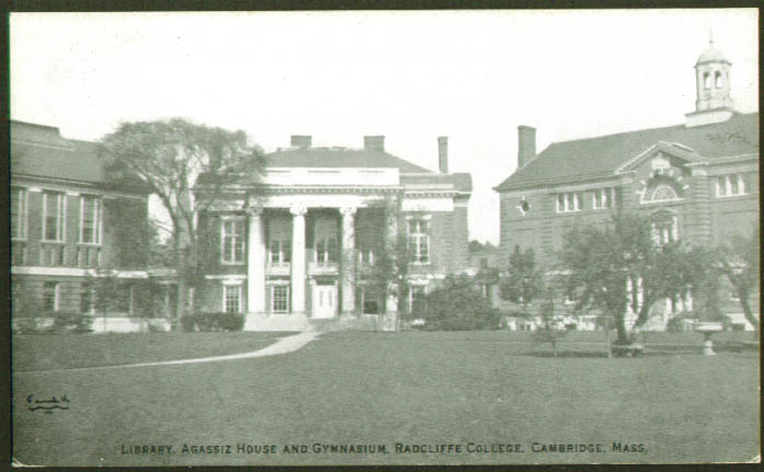 Gym Radcliffe College MA postcard 1930s