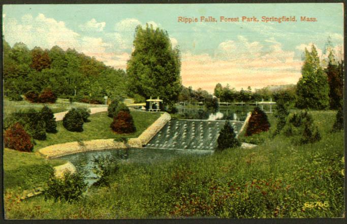 Ripple Falls Springfield MA postcard 1910s