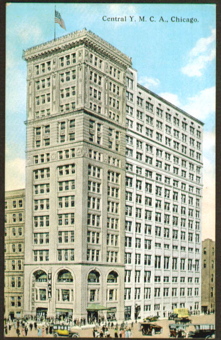 Central YMCA Chicago IL postcard 1910s