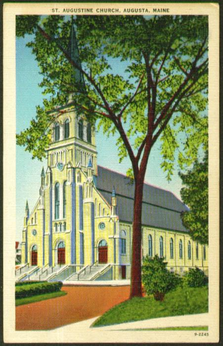 Saint Augustine Augusta ME postcard 1940s