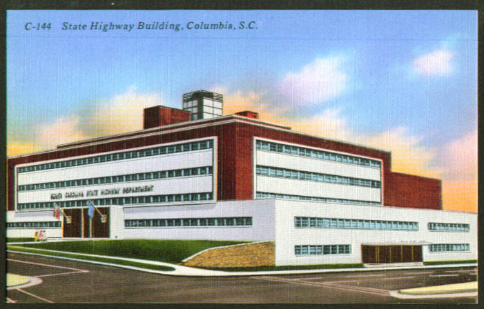 State Highway Building Columbia SC postcard 1940s