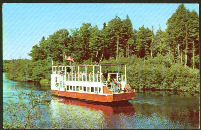 Hulbert Boat landing craft MI postcard 1952