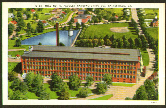 Mill #6 Pacolet Mfg Gainesville GA postcard