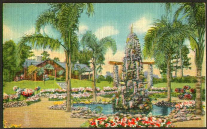 Administration Building Ravine Gardens Palatka FL postcard 1940s