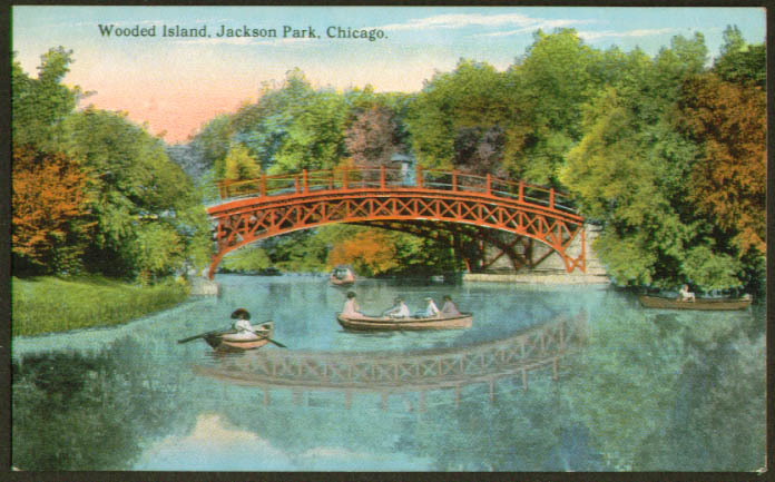 Wooded Isle Jackson Park Chicago postcard 1910s