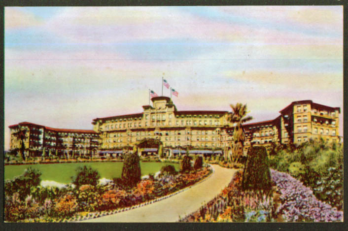 Huntington Hotel in Pasadena CA postcard 1930s