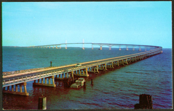 Chesapeake Bay Bridge MD postcard 1950s