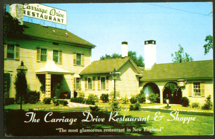 Carriage Drive Rest Hamden CT postcard 1950s