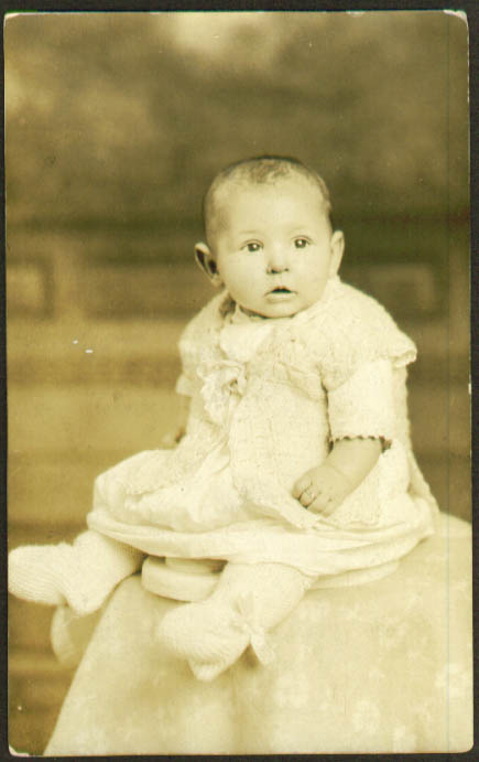 Baby Dorothy Lentz RPPC postcard 1910s