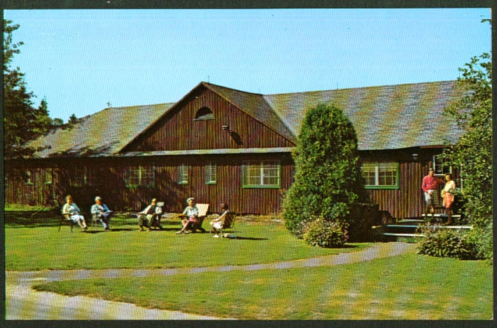 Early Bird Sebasco Lodge ME postcard 1950s