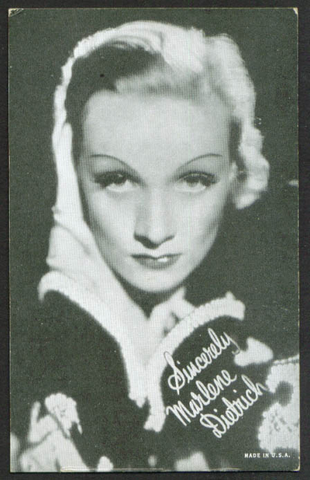 Marlene Dietrich mutoscope card 1940s