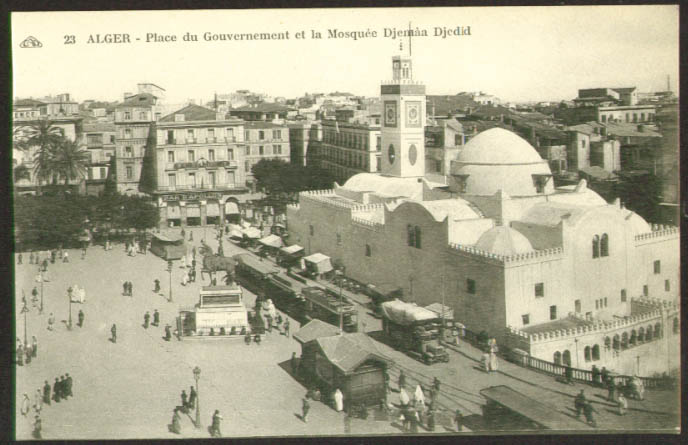 Bar Apollon Mosque Djemaa Djedid Algiers postcard 1910s