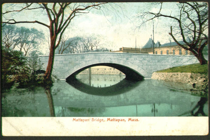 Mattapan Bridge Mattapan MA undivided back postcard 1900s