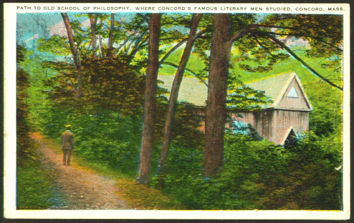 Old School of Philosophy Concord MA postcard 1910s