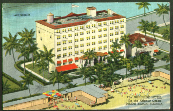 Surfside Hotel Miami Beach FL postcard 1950