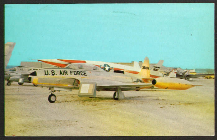 Image for Lockheed T-33A trainer postcard 1960s