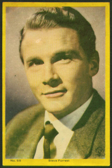 Steve Forrest color movie star picture Argentina 1959