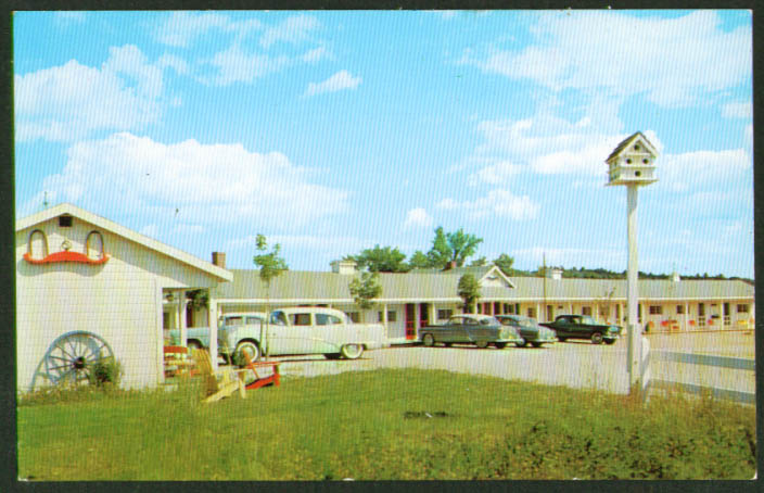 County Fair Motel Damariscotta ME postcard 1950s