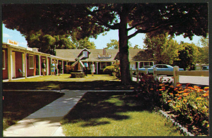 Viking Motel Mission Dr Solvang CA postcard 1960s