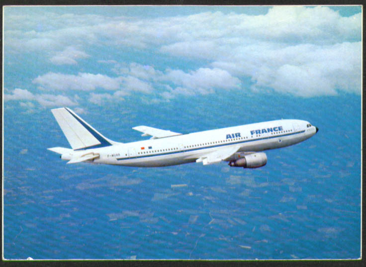 Air France Airbus A 300 B2 airliner postcard 1970s