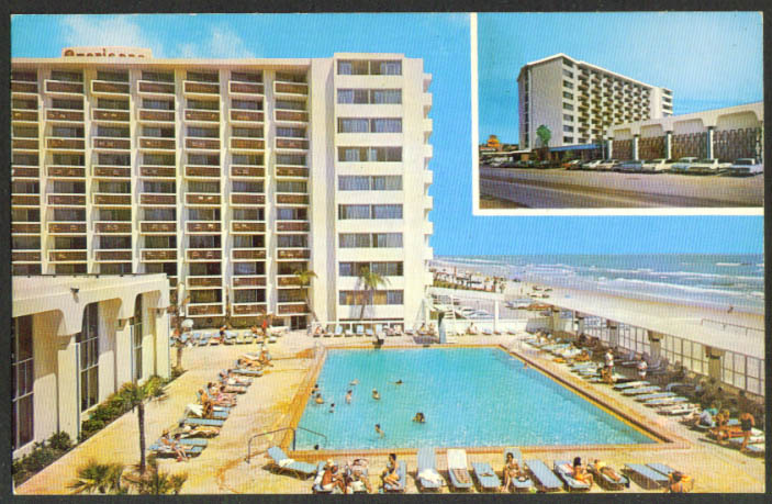 Americano Beach Lodge Daytona Beach FL postcard 1971
