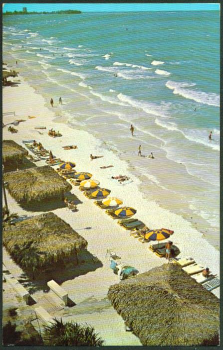 Azure Tides 3 Crowns Motel Sarasota FL postcard 1960s