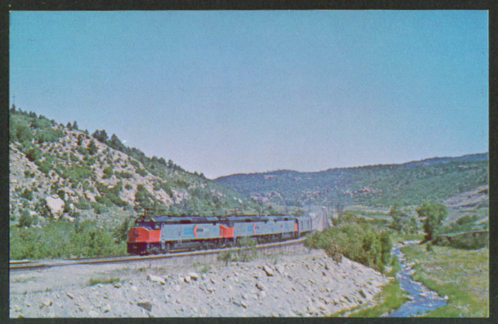 Amtrak Super Chief at Gallinas CO postcard 1973