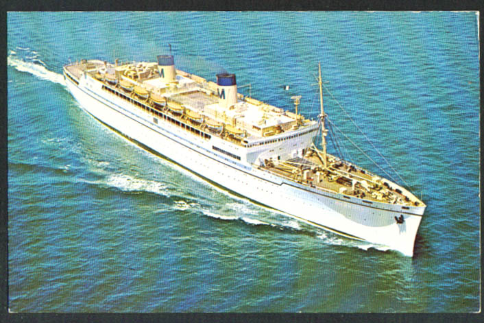 Matson Lines S S Lurline postcard 1960s