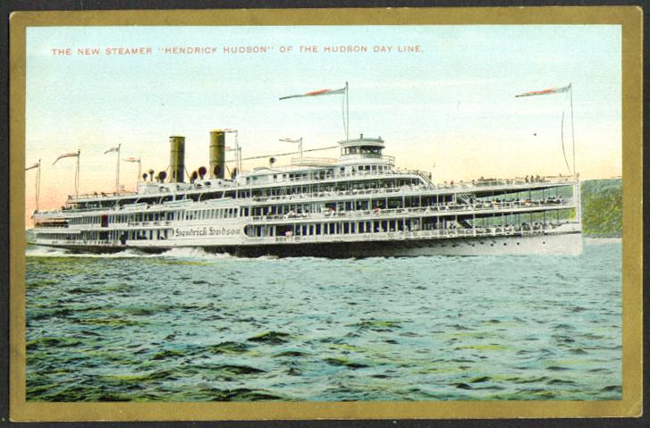 Hudson Bay Line S S Hendrick Hudson postcard 1910s