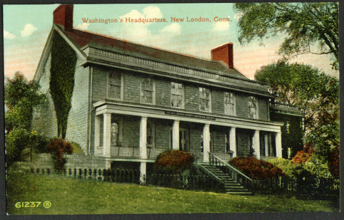 Washington's Headquarters New London CT postcard 1910s
