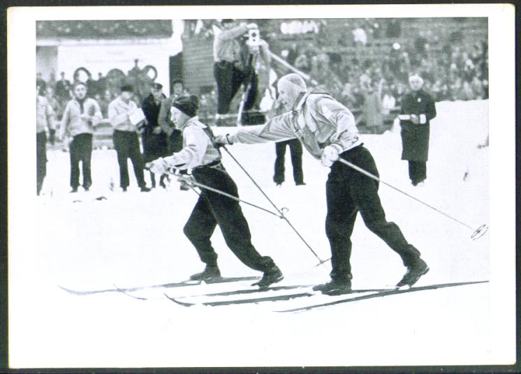 Men's Skiing Crosscountry 1936 Berlin Olympics card