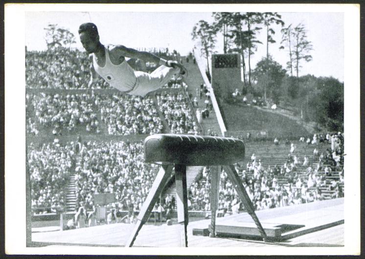 Japan Gymnastics Vaulter 1936 Berlin Olympics card