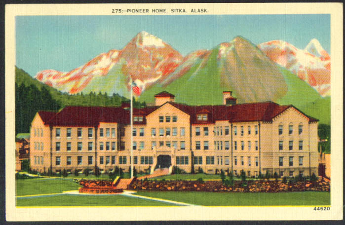 Pioneer Home at Sitka AK postcard 1940s