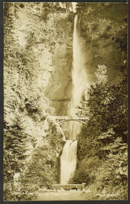 Multnomah Falls Columbia River Highway OR RPPC 1910s